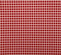 """Red Ivory White Check Cotton Quilting Fabric 22"""" x 44"""""""
