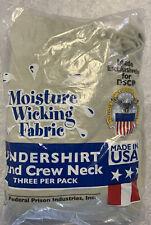 Sand Crew Neck (3 Pack) USGI Undershirt Moisture Wicking DSCP 2XL XX-Large  J-50