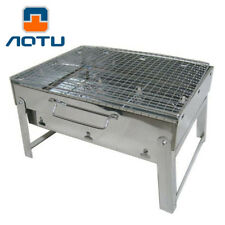 Portable Charcoal BBQ Grill Outdoor Camping Hiking Mini Barbecue Stainless Steel