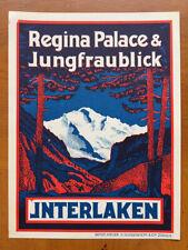 Hotel Luggage Label | Regina Palace & Jungfraublick Interlaken |  MINT