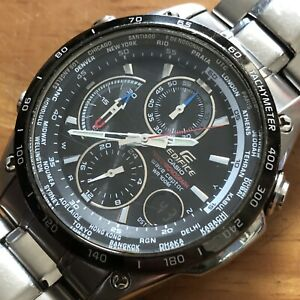 Casio Edifice EQW-500 chronograph quartz analogue digital watch Wristwatch Works