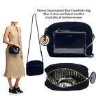 MIMCO Supernatural Box Hip Crossbody Bag Ink Blue Velvet and Leather w/ Charm