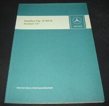 Werkstatthandbuch Mercedes Omnibus O 305 G Modelljahr 1977 Einführungsschrift!