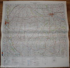 Authentic Soviet Army Military Topographic Map Des Moines Iowa State USA #22