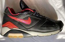 Nike Air 180 Prima Negro Rojo Size Uk 7 Cuero Premium Caja Original