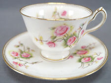 Set of 4 William Lowe Hand Colored Pink Roses & Gilt Tea Cups Circa 1874 - 91 B