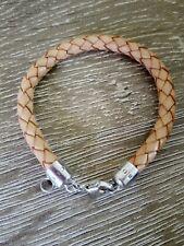 THOMAS SABO Charm Club Carrier Bracelet Plaited Brown Leather 19 cm