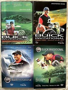 Tiger Woods Buick Invitational PGA Tour golf programs covers 2004 2007 2008 2009