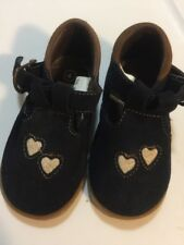 Fisher Price Toddler Girls Size 4 Blue suede walking Gumshoe sole Buckle Casual