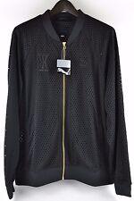 Mens Puma Vashtie T7 Track Jacket Long Sleeve Black Gold Zipper Mesh Size XL