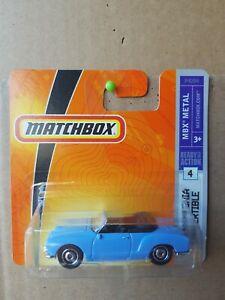Matchbox 2008 - '69 VW Karmann Ghia Convertible [LIGHT BLUE] NEAR MINT VHTF