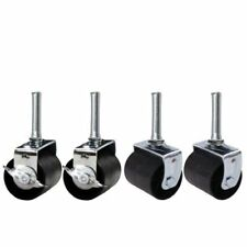 King's Brand Heavy Duty Caster Wheels Bed Frame ~Set Of 4~ (2 Locking & 2 None