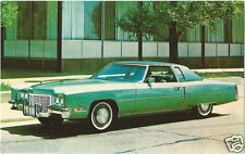 1972 Cadillac Eldorado COUPE Green Original Dealer Promotional Postcard UNUSED ^