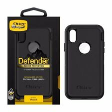 NEW OtterBox Apple IPhone X Defender Case & Belt Clip Holster Black Rugged