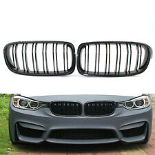 Car Front Gloss Black Double line Racing Grille for BMW 3 Series F30 F35 12-15