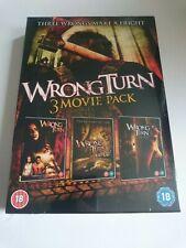 Wrong Turn 1-3 (2010, DVD) 3 Disc Boxset