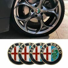 Alfa Romeo 50mm x4 GOLD wheel cap badge hub stickers