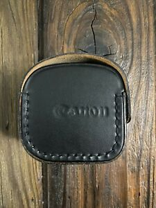 Vintage Small Canon Lens Hard Leather Case for 50mm and Similar