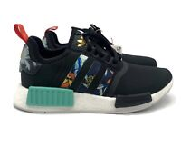 Adidas NMD R1 Floral Pack (Women's Size 8.5) Running Shoe Black White Sneaker