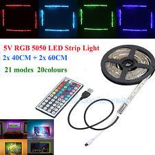 2M 5V 5050 RGB LED Strip Light TV Back Lighting Kit+USB Remote AU POST