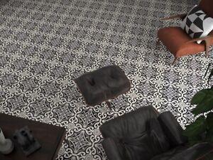 New Devonstone Black Matt Glazed Porcelain Feature Floor Tile 33 x 33  x 1.2m2