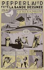 EVER MEULEN AFFICHE Librairie PEPPERLAND FÊTE LA BD - BRUXELLES  (ANNÉES 80)