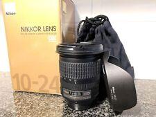 Nikon AF-S DX NIKKOR 10-24mm f/3.5-4.5G ED Wide Zoom Lens + Hood, Pouch and Box