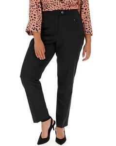 MAGISCULPT Black Tapered Leg Trousers Reg Fit   UK 22  US 18   EUR 50   (FS63-9)