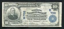 1902 $10 THE WYOMING NB OF WILKES BARRE, PA NATIONAL CURRENCY CH. #732