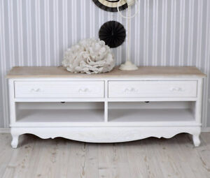Sideboard shabby white TV-Table country style TV closet TV lowboard shelf rack