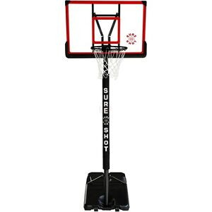 Sure Shot 514ACR Portable Basketball Unit Acrylic Backboard - Home Stand & Ring
