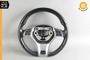 13-15 Mercedes W204 C300 E350 Sport Driving Steering Wheel Black 1724605903 OEM