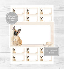 French Bulldog 42 Self Adhesive Stickers, Blank For Address Labels/Fun Gift Tags