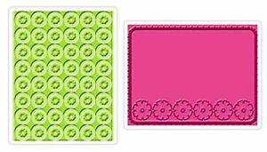 Sizzix Texture Embossing Folders set 2 folders Folder Cornflowers Posies 657087