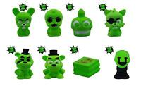 Five 5 Nights At Freddy's Squishme Glow in Dark Complete Set Mini Squishy Toy