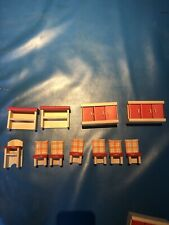 Plan Toys Ryans Room Melissa Doug & other Wooden Doll House Furniture lot