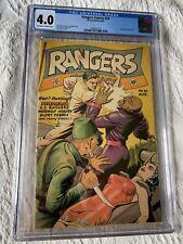 RANGERS COMICS 24 cgc 4.0 CLASSIC BONDAGE/TORTURE COVER