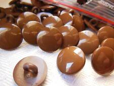 lote de 24 botones marrón liso de pie costura mercería diámetro: 1,4 cm TC