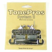 TonePros LPNM04-NKL Imperial Locking Bridge & Tailpiece, Nickel