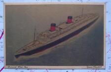 Rms queenelizabeth Cunard White Star naviera Postal C1930's
