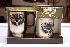 Big Game Trophy Club Stainless Coffee Mug & Stainless Koozie Gift Set NEW
