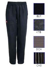 NWT Dickies Hospitality CW050301 Cotton Elastic Waist Chef Work Pants XS-5XL