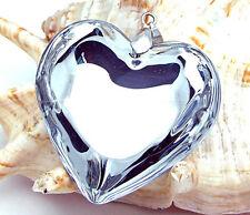 heart handmade heart glass art beaded Pendant black cord necklace p0206