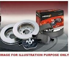 FOR BMW MINI ONE COOPER S 2004> MINTEX REAR BRAKE DISCS AND DISC PAD KIT