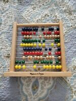 Melissa and Doug Abacus Classic Wooden Developmental Toy Bright Wooden Beads