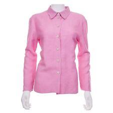 Kiton Pink Linen Shirt US 10