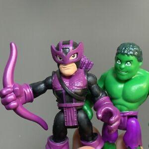 Lot 2 HULK & MARVEL'S HAWKEYE Playskool Marvel Super Hero Adventures Figure Toy