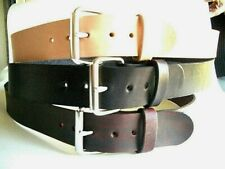"""1.3/4"""" W HAND MADE HEAVY DUTY THICK LEATHER BELT.TOOLS.HOLSTER WORK MENS WOMEN"""