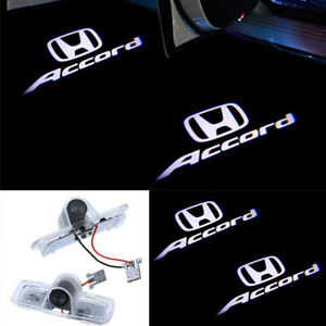 2x Led Light Door Projector Ghost White Logo Emblem For Honda Accord 2003-2012