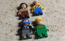 Set of 4 Assorted Lego Duplo Figures VGUC
